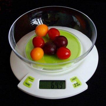 numérique 5kg balance de cuisine / 1g avec un bol