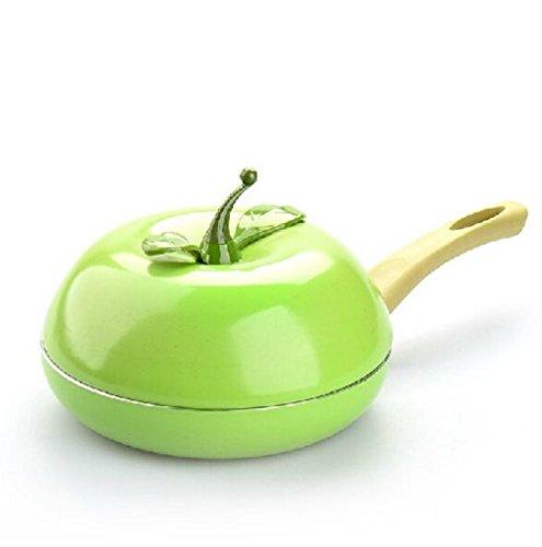 Fruit Frying Pan Colour Saucepan Ceramic Pan Grill Pan Cast Aluminum Cookware Gas Grill Pan ( Apple) (Deep Frying Pan Paula Dean compare prices)
