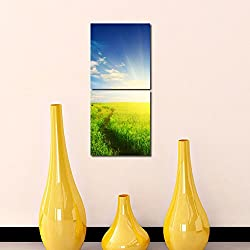 Multiple Frames Printed Firm like Modern Wall Art Painting -2 Frames (76x25 cm)
