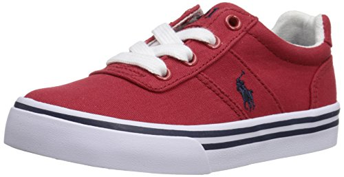 Polo Ralph Lauren Kids Hanford R Canvas Fashion Sneaker (Little Kid/Big Kid), Red, 11.5 M US Little Kid