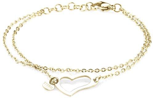 Storm Heart Ladies Gold Bracelet 20.5cm