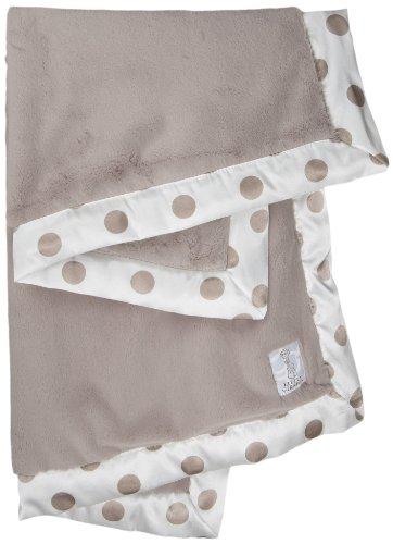 Little Giraffe Luxe New Dot Baby Blanket, Flax