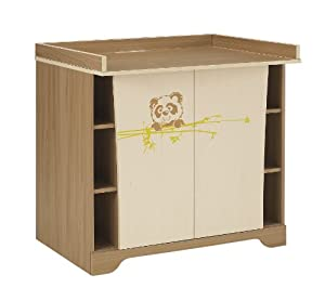 Panda Changing Table in Walnut and Oak from Galipette