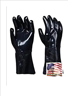 Artisan Griller Insulated Barbecue Gloves * Best Heat Resistant Neoprene For Handling Food Right On Your Smoker, Fryer or Grill * Use For Cooking & Handling Turkey Fryers, Smokers, BBQ's, Pulling Pork, Home Brew Tasks. by Pacific Group