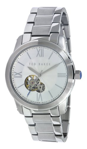 Ted Baker Mens Watch TE3022 with Silver Dial and Silver Stainless Steel Bracelet