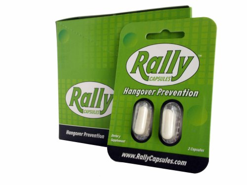 Rally Capsules - Hangover Prevention (20 Capsules) | Dihydromyricetin, Vitamin C, And B-Vitamin Complex