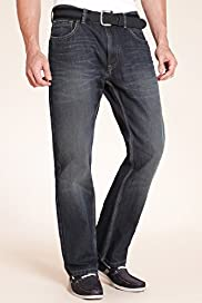 Big & Tall Boot Cut Jeans with Belt