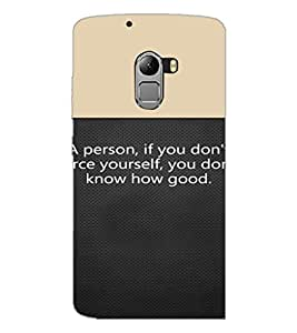 PrintDhaba Quote D-4719 Back Case Cover for LENOVO VIBE X3 c78 (Multi-Coloured)