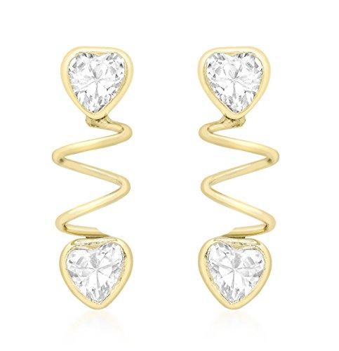 Carissima Gold - Boucles d'Oreille - Femme - Or Jaune 375/1000 (9 Cts) 0.5 Gr - Oxyde de zirconium