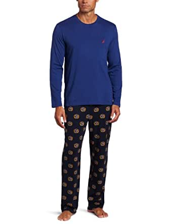 Nautica Men's Alliance Print Boxed Pajama Gift Set, Navy Alliance Print, Small