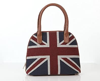 Signare Womens Tapestry Grab Bag in Union Jack Flag Design