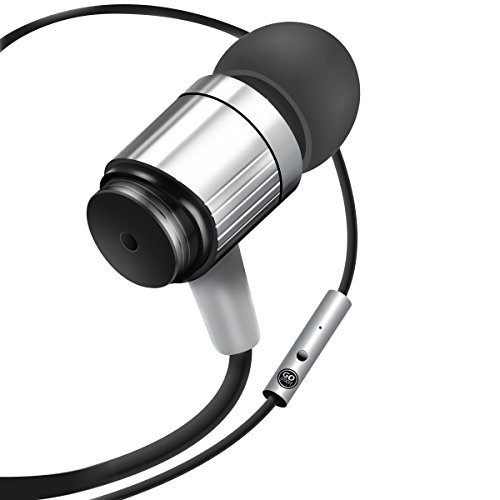 Rugged AudiOHM RNF Silver Ergonomic Earbud Headphones with by GOgroove feat. Handsfree Mic and Military Grade Materials for Body Armor for Apple , Samsung , LG and More (Make Voice Deeper compare prices)