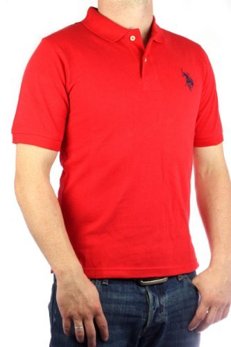 US Polo Assn. Men´s Big Pony polo shirt red-navy mens genuine
