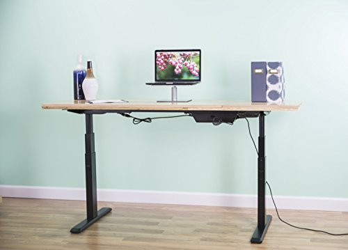vivo electric stand up desk frame only solid steel w dual motor ergonomic standing height adjustable