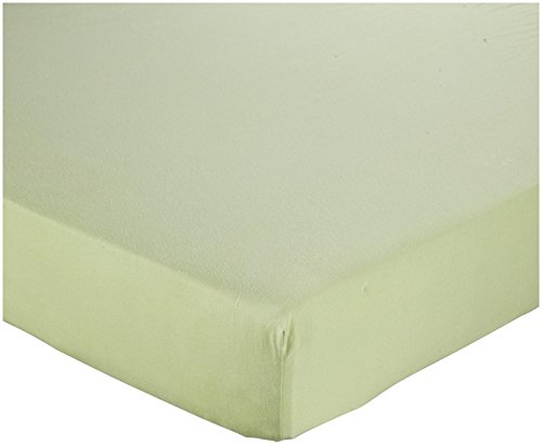 Burt'S Bees Baby Jersey Fitted Crib Sheet- Leaf front-958926