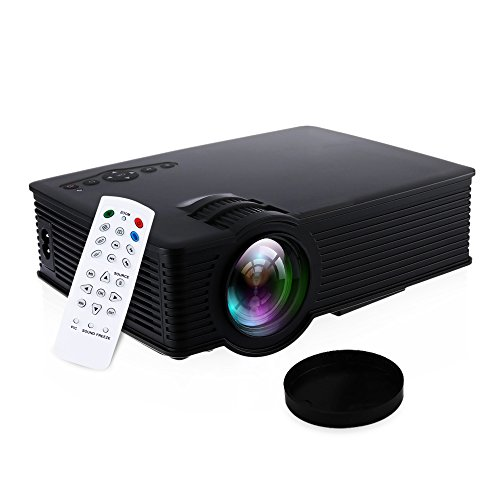 GBTIGER Portable Mini Projector 1500 Lumens 1920 X 1080 Pixels 20000Hours Lens Life Times LCD/LED Projector Home...