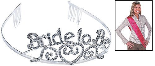 Fun Express Bride to Be Tiara (1 Piece)