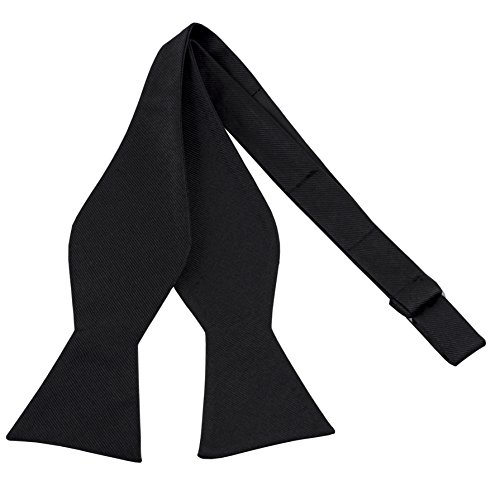 100% Silk Mens Black Self Tie Tuxedo Bow Tie by John William (Trendy Bow Ties compare prices)