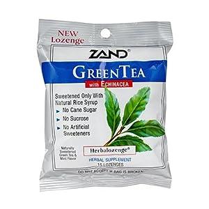 Zand HerbaLozenge Green Tea - 15 lozenges per pack -- 12 packs per case.