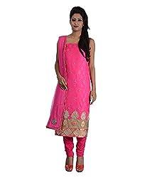Mumtaz Sons Women's Cotton Unstitched Dress Material (MS111407B,Rani)