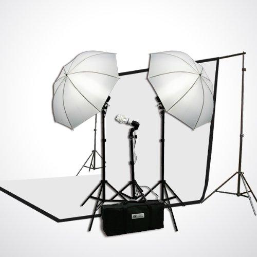 ePHoto Photography Studio Continuous Lighting Umbrella Kit Free 45 Watts 5500k Fluorescent Photo Lamp Bulb by ePhoto INC Dk1