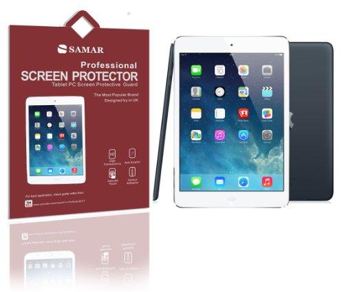 SAMAR Displayschutz für Apple iPad Mini, inklusive Mikrofaser-Reinigungstuch, 3er-Pack Ultra Crystal Clear iPad Mini 2