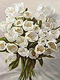 Bouquet Blanc by Sanna, Leonardo- Fine Art Print on CANVAS : 52 x 69 Inches
