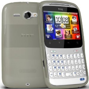 iBox – HTC ChaCha CLEAR/WHITE Gel Skin Case Cover Plus Free Bonus Screen protector