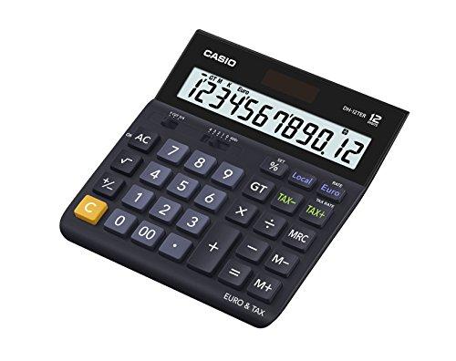 Casio-DH-12TER-Tischrechner-mit-12-stelligem-Display-Euro-Umrechung-und-Steuerberechnung-Nachfolger-fr-D-20TER-schwarz