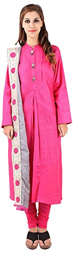 Imple Boutique Women's Cotton Silk Salwar Suit Set (IBA-42)