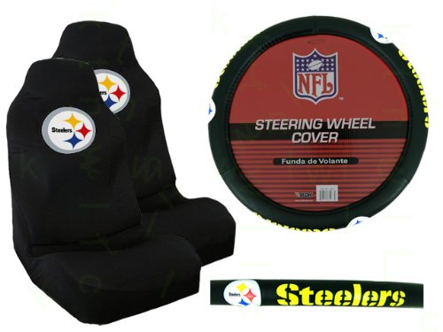 pittsburgh steelers seat cover steelers seat cover steelers seat covers. Black Bedroom Furniture Sets. Home Design Ideas