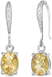 Vir Jewels Garnet, Citrine, Peridot or Amethyst Earrings in Sterling Silver
