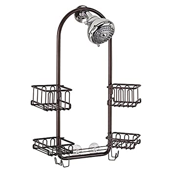 mDesign Handheld Shower Head Shower Caddy - Bronze