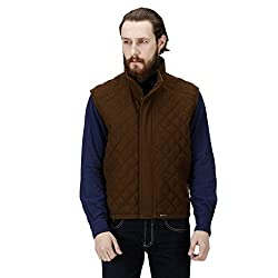 Brown Color 100 % Genuine Woolen Waist-Coat For Men By Bareskin