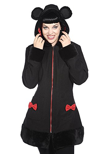 Banned Apparel -  Cappotto  - Impermeabile - Donna nero X-Large