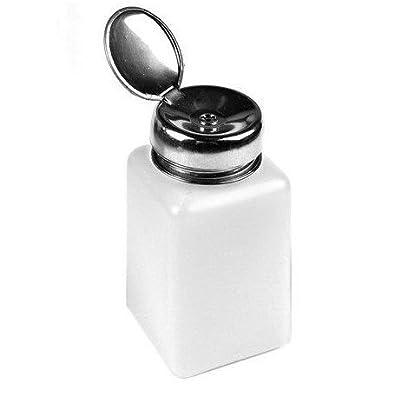 WAWO 200ml Nail Polish Remover Alcohol Liquid Press Pumping Dispenser Empty Bottle (3pcs)