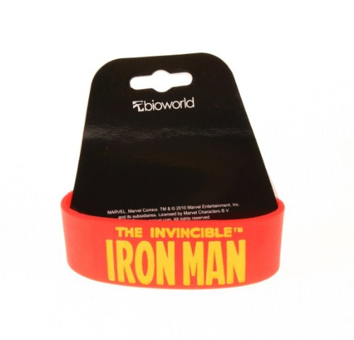 Picture of Bioworld Marvel Comics Iron Man Rubber Bracelet Figure (B0052MVTXS) (Iron Man Action Figures)