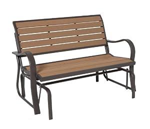 Amazon.com : Lifetime 60055 Glider Bench, 4 Feet, Faux ...