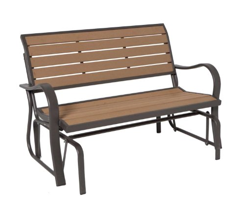 Lifetime Glider Bench, Faux Wood Construction, # 60055 image