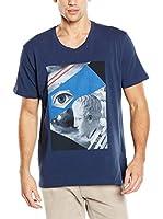 TRU TRUSSARDI Camiseta Manga Corta Jersey Stretch (Azul Oscuro)