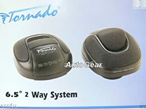"Tornado Audio 6.5"" 6-1/2 inch 200w 200 Watts 2-Way Car Rear Parcel Shelf Flush Mount Speakers - Pair"
