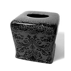 Tissue Box Cover Black And White Decor