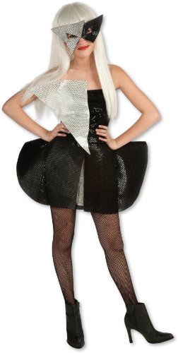 Lady Gaga Black Sequin Dress Child Costume - Tween Small