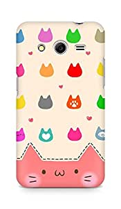 Amez designer printed 3d premium high quality back case cover for Samsung Galaxy Core 2 (Cats Cartoon)