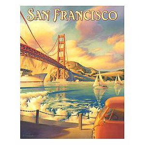 San Francisco Golden Gate Bridge California Vintage Tin Sign