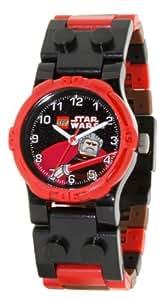 LEGO Kids' 9002106 Star Wars Count Dooku Plastic Watch with Link Bracelet