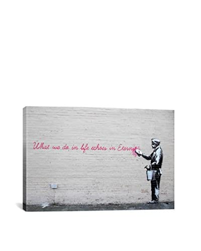Banksy What We Do In Life Echoes In Eternity Gallery Wrapped Canvas Print, Multi, 40″ x 60″