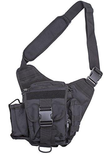 Quality Choices Tactical Messenger Bag - Ergonomic Bag With Shoulder Strap and Bottle Holder