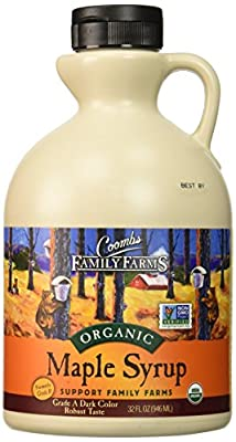 Coombs Family Farms 100% Pure Organic Maple Syrup Grade B, 32-Ounce Jug from Bascom Family Farms dba Coombs Family Farms