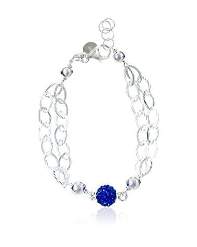 Córdoba Joyeros Pulsera Diamantada Azul